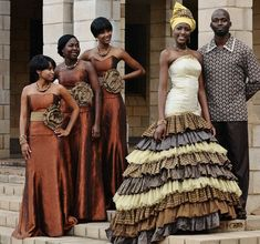 Traditional African Wedding Dresses | african wedding dress layers prints