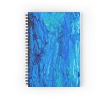 Abstract Dripping Ocean Painting Spiral Notebook        Also available as t shirts, phone cases, bags, high quality prints, etc. on my redbubble