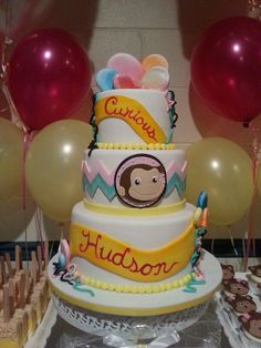 Hudson Savanna's Baby Shower Curious George Cake....