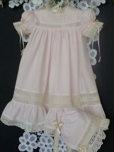 Heirloom sewing easter dresses | Reserved Listing for Etsy Member Kasey Pink by justforbabyonetsy