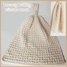 Bubbly Kitchen Hand Towel ~ FREE Crochet Pattern Free crochet pattern for a Bouncy Bubbly Kitchen Hand Towel.Free crochet pattern for a Bouncy Bubbly Kitchen Hand Towel. Crochet Dish Towels, Crochet Kitchen Towels, Kitchen Hand Towels, Crochet Dishcloths, Crochet Granny, Knit Kitchen Towel Pattern, Crochet Baskets, Diy Crochet, Crochet Crafts