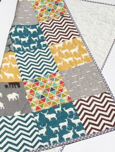This modern quilt was created using Birch Organic Fabrics which is 100% GOTS certified organic cotton. The colors are nice and modern ivory,