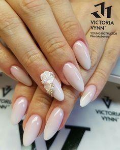 Wedding Nails idea baby boomer Victoria Vynn