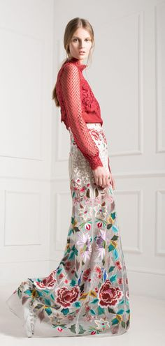 Temperley London Pre-Fall 2015 C.Rose- I don't like the top, but the print is very lovely and I think I could recreate something similar