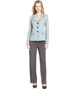 Evan Picone Suit, Tweed Jacket & Grey Trousers - Womens Suits & Suit Separates - Macy's