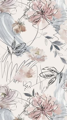 backgrounds by moonybackgrounds. Phone Wallpaper Images, Cute Patterns Wallpaper, Cute Wallpaper Backgrounds, Flower Backgrounds, Pretty Wallpapers, Aesthetic Iphone Wallpaper, Aesthetic Wallpapers, Vintage Floral Backgrounds, Floral Wallpapers
