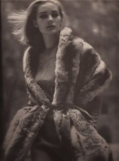 Robert Evans' second wife, Camilla Sparv, in a chinchilla coat by Ben Kahn. Photo: Martin Munkacsi.