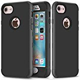 #3: iPhone 7 Case SUMOON [Drop Protection] Hybrid Heavy Duty Three Layer Verge Shockproof Full-Body Protective Armor Defender Case for Apple iPhone 7 2016 Release (Black)