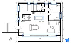 How to read floor plans - where are the windows? Click through to www.houseplanshelper.com for more on how to read floor plans, house plans and for more on home design. Bathroom Layout, Kitchen Layout, Blueprint Symbols, Floor Plan Symbols, Free Floor Plans, Space Words, Comfy Sofa, Building A New Home, Internal Doors