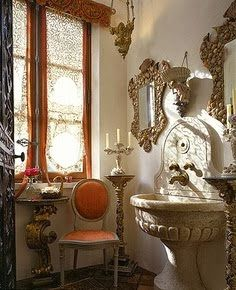 French, a fountain made for a vanity sink