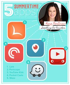 With tempsheating up and travels on the horizon, we asked Seedling Co-Founder Kara Nortman to share her top five apps for enjoying summeron the move. Here are