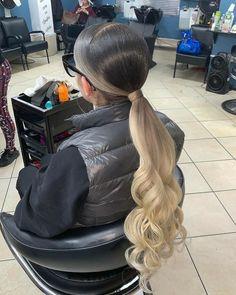 Baddie Hairstyles, Black Girls Hairstyles, Ponytail Hairstyles, Weave Hairstyles, Slick Hairstyles, Beautiful Hairstyles, Slick Ponytail, Weave Ponytail, Ponytail Styles
