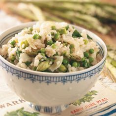 Garden Risotto - With asparagus, spinach and peas, this simple side adds spectacular flavor and tons of health benefits from green veggies. Add some Parmesan cheese, and you've got one delectable dish! Kendra Doss — Kansas City, Missouri