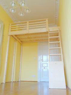 Die besten 25 hochbett bauen ideen auf pinterest jugendzimmer mit hochbett jugendzimmer - Hochbett selber bauen 180x200 ...