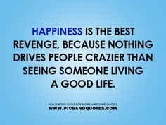 Happiness is the best revenge  :)