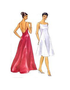 Butterick 6404 Backless Evening Gown Pattern  by treazureddesignz