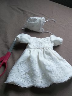 doll pattern angel gown 11 inch....wedding dress donated by Kathy and ...