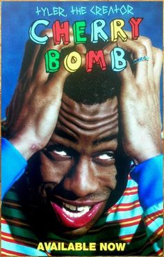 Tyler the Creator Cherry Bomb Hip Hop 2015 Album Cover Poster Room Posters, Band Posters, Poster Wall, Poster Prints, Bedroom Wall Collage, Photo Wall Collage, Picture Wall, Tyler The Creator Wallpaper, Photographie Indie