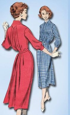 1950s Original Gorgeous Butterick Dress Pattern w Tucked Back Sz 36 B | eBay