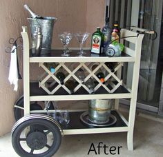 What a Change!  Changing Table to Bar Cart