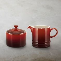 Le Creuset Café Stoneware Sugar Bowl & Creamer #williamssonoma