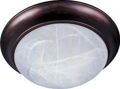Maxim Lighting 5852MROI, Essentials, 3 Light Fluch Mount, Oil Rubbed Bronze