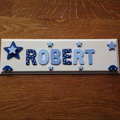 personalised children bedroom nursery wooden name door wall sign plaque boy in home furniture - Bedroom Wall Plaques