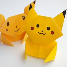 How to fold an Origami Pikachu- Easy Step-by-step directions for all Pokemon…