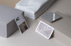 Moo cartão de visita sustentável - retalho algodão