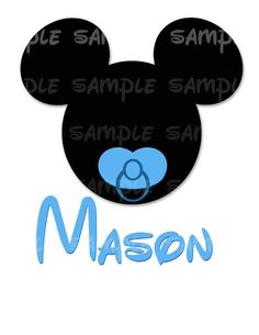 Disney Mickey Mouse Personalized DIY by TwoByTuTuCreations on Etsy, $5.00