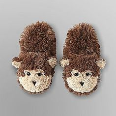 30a7702b482 Joe Boxer- -Junior s Fluffy Slippers - Monkey Boxer