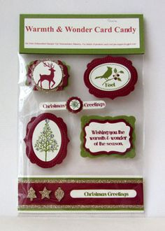 warmth and wonder card candy