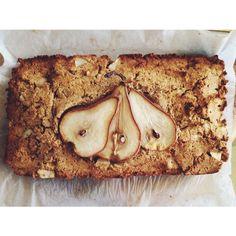 pear ginger loaf cake