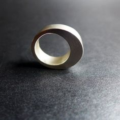 Hollow Form Sterling Silver Ring Minimalist Cool by OverTheTop
