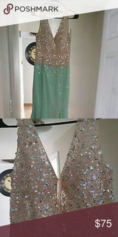 Long mint green evening dress Brand new dress Dresses Prom