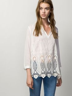 EMBROIDERED LARGE BLOUSE