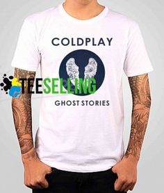 Coldplay Ghost Stories T-SHIRT Adult UNISEX Price: 15.50 #graphicshirt Funny Shirt Sayings, Shirts With Sayings, Funny Shirts, Cute Graphic Tees, Graphic Shirts, Coldplay Ghost Stories, Workout Shirts, How To Look Better, Unisex