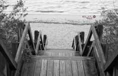 Stairway at Flanners Beach located in Havelock, NC when I visit Amanda..
