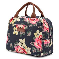 LOKASS Lunch Bag Cooler Bag Women Tote Bag Insulated Lunch Box Water-resistant Thermal Lunch Bag Soft Leak Proof Liner Lunch Bags for women/Picnic/Boating/Beach/Fishing/Work (Peony): Kitchen & Dining Reusable Lunch Bags, Lunch Tote, Thermal Lunch Bag, Meal Prep Bag, Box Water, Cooler Box, Ladies Lunch, Keto Lunch Ideas, Lunch Snacks