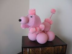 Golf Ball Poodle  Great way to recycle old golf balls!  Cute idea and kids can help with this fun craft!
