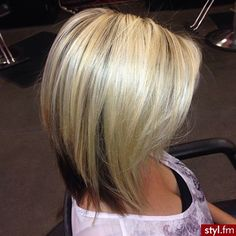 dark on bottom light on top hair | Bob - modna damska fryzura na 2014 rok