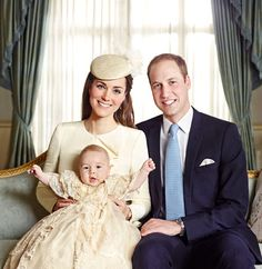 The Royal Family Portrait...William, Kate and baby George