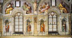 michelangelo lunette cappella sistina - Gli Antenati di Cristo si trovano lungo le sedici lunette (due distrutte, quindi oggi quattordici) e le otto vele. Essi rappresentano le quaranta generazioni anteriori a Gesù  Cerca con Google