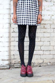 Polka Dot Tights http://www.thewhitepepper.com/collections/socks-tights/products/polka-dot-tights