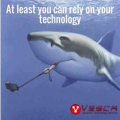 The great white shark selfie!