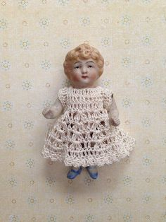 Tiny Antique Vintage All Bisque Jointed Doll on Etsy, $59.00