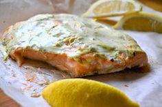 S vášní pro jídlo: V jogurtu pečený losos Krabi, Russian Recipes, Low Carb, Cooking Recipes, Yummy Food, Chicken, Meat, Breakfast, Polish