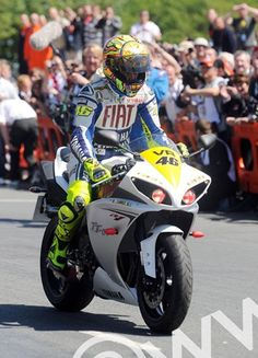 Valentino Rossi at the Isle of Man TT