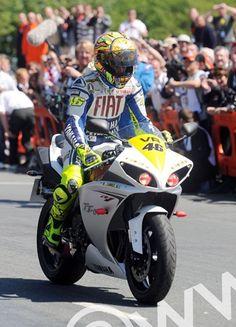 Valentino Rossi at the Isle of Man TT