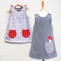 girls toadstool reversible dress. $60.00, via Etsy.